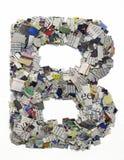 Επιστολές που γίνονται από την εφημερίδα capitel Β Στοκ φωτογραφία με δικαίωμα ελεύθερης χρήσης