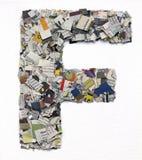 Επιστολές που γίνονται από την εφημερίδα capitel Φ Στοκ φωτογραφία με δικαίωμα ελεύθερης χρήσης