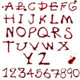 Επιστολές που στάζουν με το αίμα Ελεύθερη απεικόνιση δικαιώματος