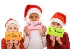 επιστολές Χριστουγέννω&nu Στοκ εικόνα με δικαίωμα ελεύθερης χρήσης