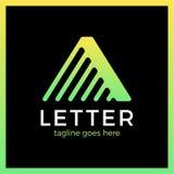 Επιστολή ένα βέλος γραμμών επάνω σε Logotype Στοκ φωτογραφία με δικαίωμα ελεύθερης χρήσης