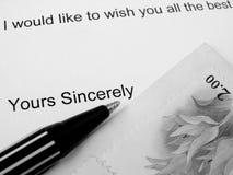 επιστολή έννοιας Στοκ Φωτογραφία
