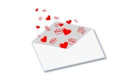Επιστολή αγάπης διανυσματική απεικόνιση