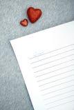 Επιστολή αγάπης στοκ εικόνα
