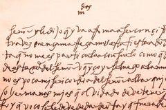 Επιστολή αυτόγραφου από Santa Τερέζα de Ιησούς στοκ φωτογραφία