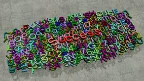 Επιστολή επιτυχίας στο πάτωμα Στοκ φωτογραφία με δικαίωμα ελεύθερης χρήσης