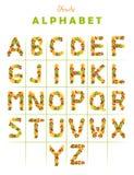 επιστολή καρπού αλφάβητο Στοκ Εικόνα
