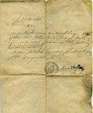 επιστολή λεπτομέρειας Στοκ Φωτογραφία