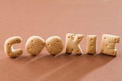 επιστολή μπισκότων Στοκ φωτογραφία με δικαίωμα ελεύθερης χρήσης