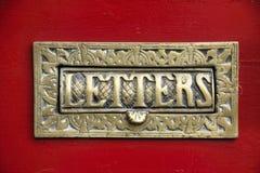 επιστολή ορείχαλκου κιβωτίων στοκ εικόνα με δικαίωμα ελεύθερης χρήσης