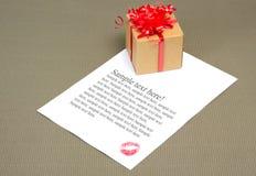 επιστολή φιλιών Στοκ Εικόνα