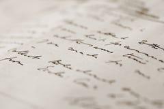 επιστολή χεριών γραπτή Στοκ εικόνες με δικαίωμα ελεύθερης χρήσης
