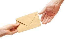 επιστολή χεριών Στοκ φωτογραφίες με δικαίωμα ελεύθερης χρήσης