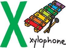 Επιστολή Χ - xylophone ελεύθερη απεικόνιση δικαιώματος