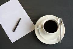 επιστολόχαρτο καφέ Στοκ Εικόνες