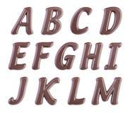 επιστολές απεικόνισης σοκολάτας αλφάβητου που τίθενται Στοκ Φωτογραφία