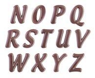 επιστολές απεικόνισης σοκολάτας αλφάβητου που τίθενται Στοκ Φωτογραφίες