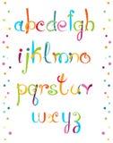 Επιστολές αστείο Alfabet ABC Στοκ Εικόνα