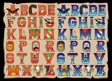 Επιστολές αλφάβητου αποκριών καθορισμένες Στοκ φωτογραφία με δικαίωμα ελεύθερης χρήσης