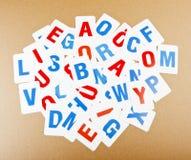 Επιστολές αλφάβητου εκμάθησης Στοκ εικόνες με δικαίωμα ελεύθερης χρήσης
