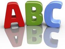 Επιστολές εκπαίδευσης αλφάβητου πηγών ABC Στοκ Εικόνες