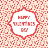 Επιστολές κινούμενων σχεδίων στο άνευ ραφής σχέδιο καρδιών Χαιρετισμός αγάπης ή σχέδιο καρτών πρόσκλησης Στοκ Εικόνες