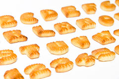 Επιστολές μπισκότων ABC Στοκ φωτογραφίες με δικαίωμα ελεύθερης χρήσης