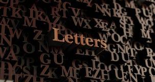 Επιστολές - ξύλινες τρισδιάστατες επιστολές/μήνυμα Στοκ φωτογραφία με δικαίωμα ελεύθερης χρήσης