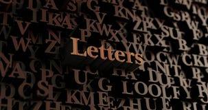 Επιστολές - ξύλινες τρισδιάστατες επιστολές/μήνυμα Στοκ εικόνα με δικαίωμα ελεύθερης χρήσης