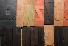 επιστολές ξύλινες Στοκ εικόνα με δικαίωμα ελεύθερης χρήσης
