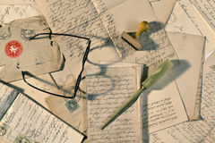 επιστολές παλαιές Στοκ Φωτογραφίες