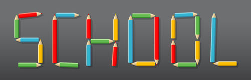 Επιστολές που αποτελούνται από τα χρωματισμένα μολύβια διανυσματική απεικόνιση