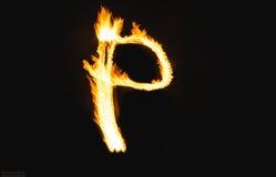 Επιστολές πυρκαγιάς Στοκ φωτογραφία με δικαίωμα ελεύθερης χρήσης