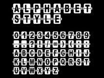 Επιστολές σε ένα μηχανικό λευκό Στοκ Εικόνα