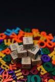 Επιστολές του αλφάβητου παιχνιδιών Στοκ εικόνα με δικαίωμα ελεύθερης χρήσης