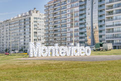 Επιστολές του Μοντεβίδεο στην παραλία Pocitos Στοκ εικόνες με δικαίωμα ελεύθερης χρήσης