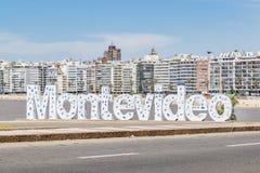 Επιστολές του Μοντεβίδεο στην παραλία Pocitos Στοκ Φωτογραφίες