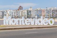 Επιστολές του Μοντεβίδεο στην παραλία Pocitos Στοκ Εικόνες