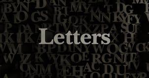Επιστολές - τρισδιάστατη μεταλλική στοιχειοθετημένη απεικόνιση τίτλων Στοκ Εικόνες