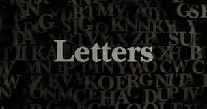 Επιστολές - τρισδιάστατη μεταλλική στοιχειοθετημένη απεικόνιση τίτλων Στοκ εικόνες με δικαίωμα ελεύθερης χρήσης
