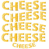 Επιστολές τυριών Στοκ εικόνα με δικαίωμα ελεύθερης χρήσης