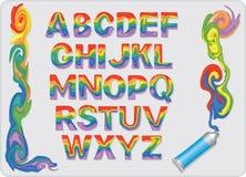 Επιστολές των μικτών ελαιοχρωμάτων απεικόνιση αποθεμάτων