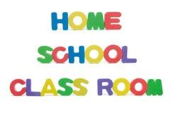 Επιστολές δωματίων εγχώριας σχολικής τάξης Στοκ εικόνα με δικαίωμα ελεύθερης χρήσης