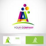 Επιστολή ένα λογότυπο χρωμάτων διανυσματική απεικόνιση
