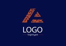 Επιστολή ένα λογότυπο Στοκ Εικόνες