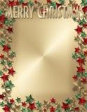 Επιστολή ή πρόσκληση Χριστουγέννων Στοκ φωτογραφία με δικαίωμα ελεύθερης χρήσης