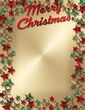 Επιστολή ή πρόσκληση Χριστουγέννων Στοκ Φωτογραφία