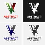 Επιστολή Β στοιχεία προτύπων σχεδίου εικονιδίων λογότυπων Στοκ εικόνες με δικαίωμα ελεύθερης χρήσης