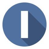 Επιστολή Ι με μια μακριά σκιά Διανυσματική απεικόνιση EPS10 απεικόνιση αποθεμάτων