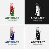 Επιστολή Ι στοιχεία προτύπων σχεδίου εικονιδίων λογότυπων Στοκ Φωτογραφία